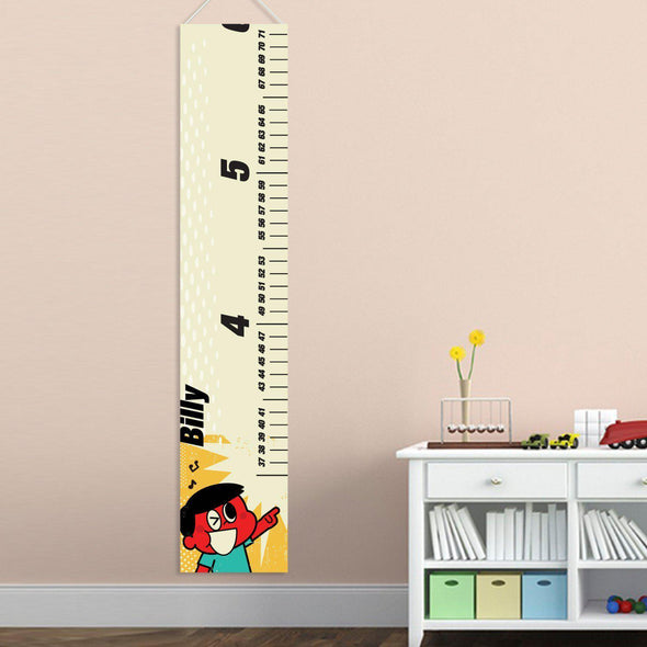 Personalized Growth Chart for Boy's - RetroBoy - JDS