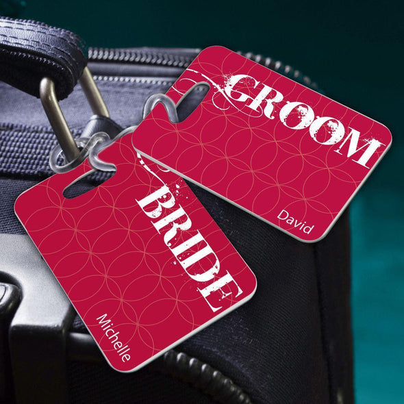 Personalized Couples Luggage Tags - BrideandGroom - JDS