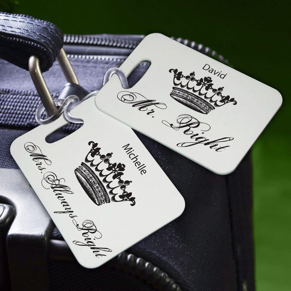 Personalized Couples Luggage Tags - RoyalCorrectness - JDS