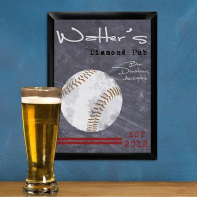 Personalized Traditional Tavern Pub Signs - Baseball - JDS