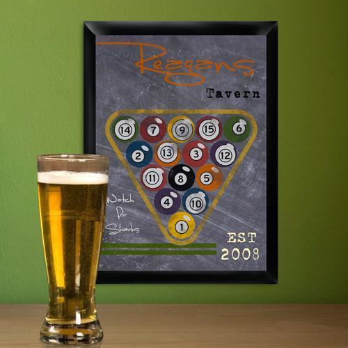 Personalized Traditional Tavern Pub Signs - Biliards - JDS