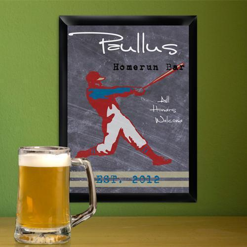Personalized Traditional Tavern Pub Signs - Homerun - JDS