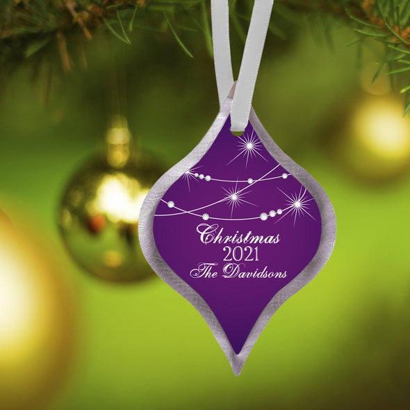 Personalized Elegant Christmas Ornament - Star - JDS