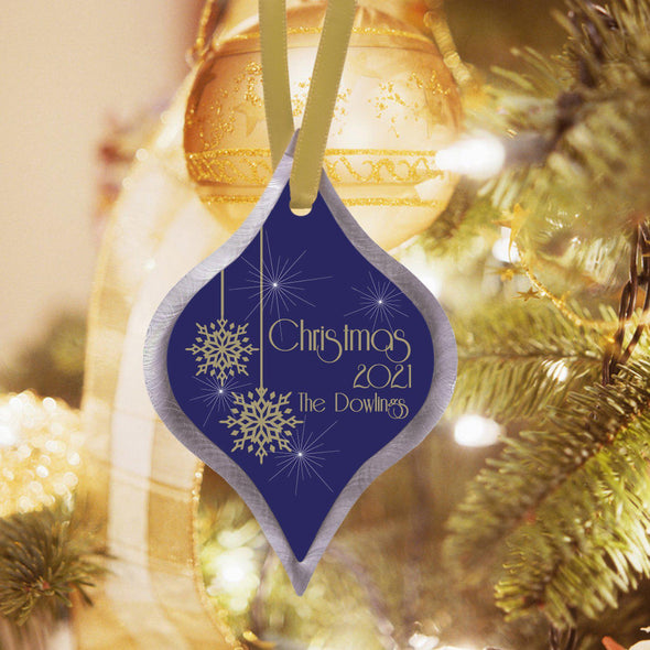 Personalized Elegant Christmas Ornament - Evening - JDS