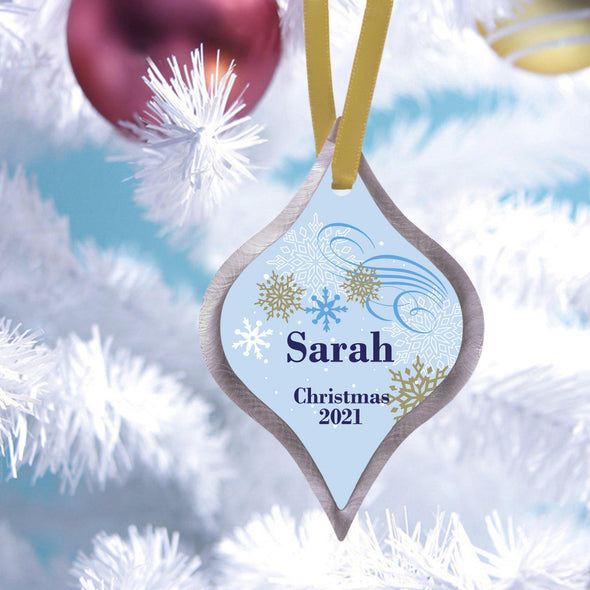 Personalized Elegant Christmas Ornament - Dazzling - JDS