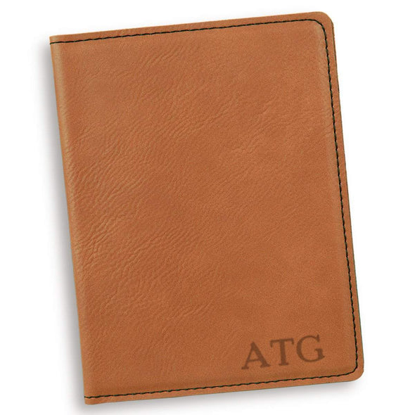 Personalized Rawhide Passport Holder - RoseGold - JDS