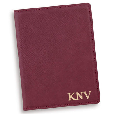 Personalized Rose Passport Holder - Gold - JDS