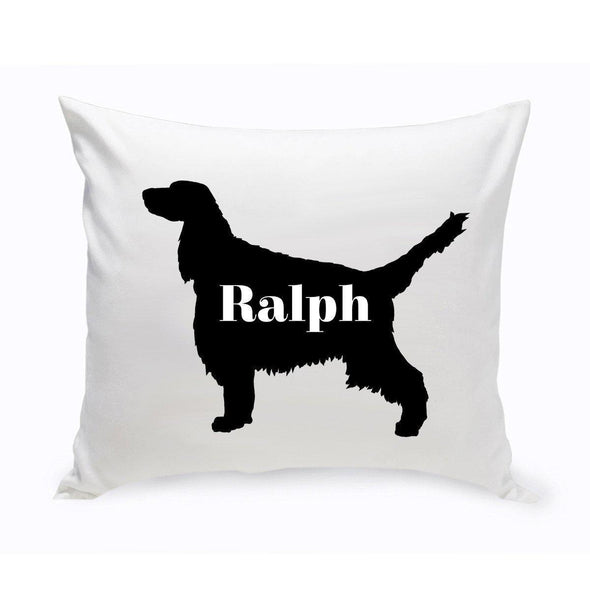 Personalized Dog Throw Pillow - Dog Silhouette - EnglishSpringerSpaniel - JDS