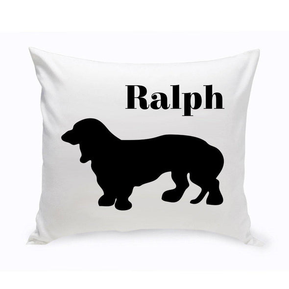 Personalized Dog Throw Pillow - BassetHound1 - JDS