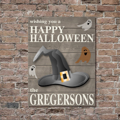 Personalized Halloween Stretched Canvas Wall Decor - Ghosts - JDS