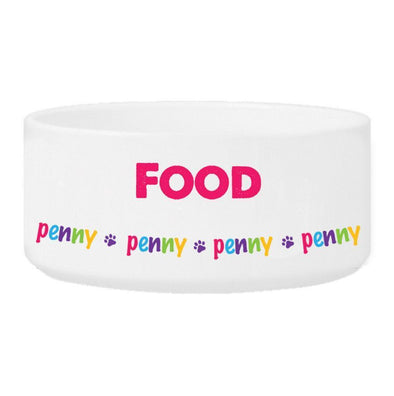 Personalized Girl Pet Bowl - Food - JDS