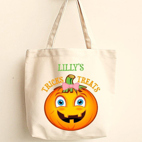 Personalized Trick or Treat Bags - Halloween Treat Bags - Gifts for Kids - GPumpkin - JDS