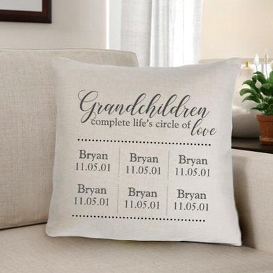 Grandparents Personalized Throw Pillow -  - JDS