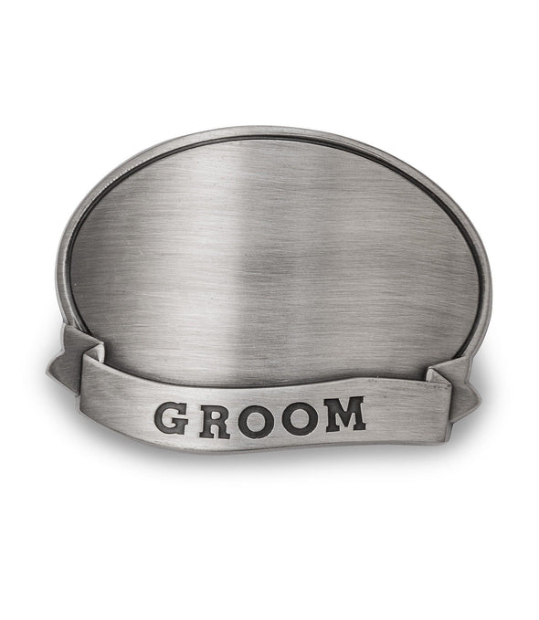 Personalized Can Cooler with Pewter Medallion - All - Groom - JDS