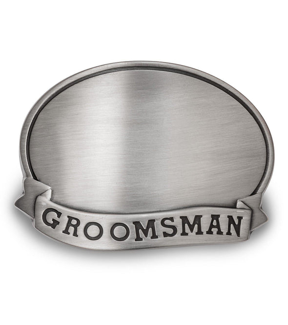 Personalized Can Cooler with Pewter Medallion - All - Groomsman - JDS
