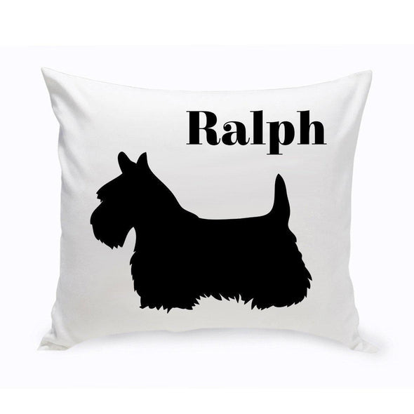 Personalized Dog Throw Pillow - Schnauzer - JDS