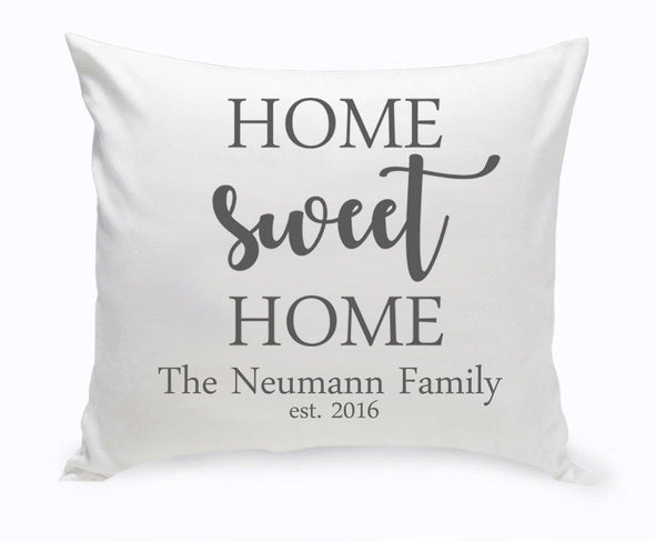 Personalized Home Sweet Home Throw Pillow -  - JDS