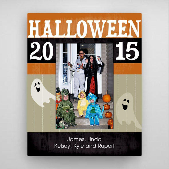 Personalized Halloween Picture Frame - Orange - JDS