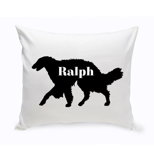 Personalized Dog Throw Pillow - Dog Silhouette - SilkenWindhound - JDS