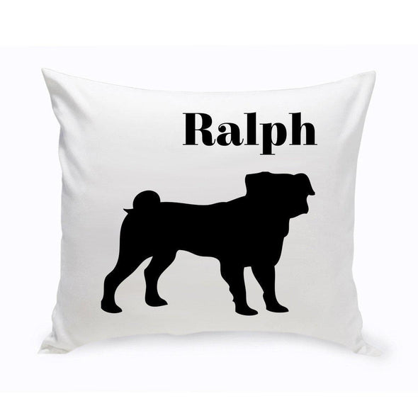 Personalized Dog Throw Pillow - Pug - JDS