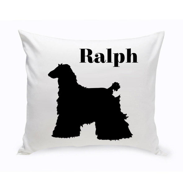 Personalized Dog Throw Pillow - AghanHound - JDS