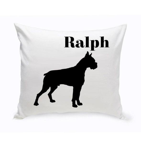 Personalized Dog Throw Pillow - Boxer - JDS
