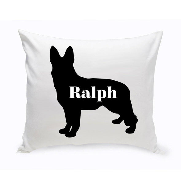 Personalized Dog Throw Pillow - Dog Silhouette - German Shepherd - JDS