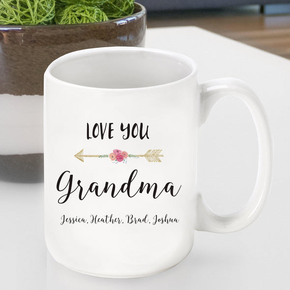 Personalized Ceramic Love You Coffee Mug - Mom - Grandma - Grandma - JDS