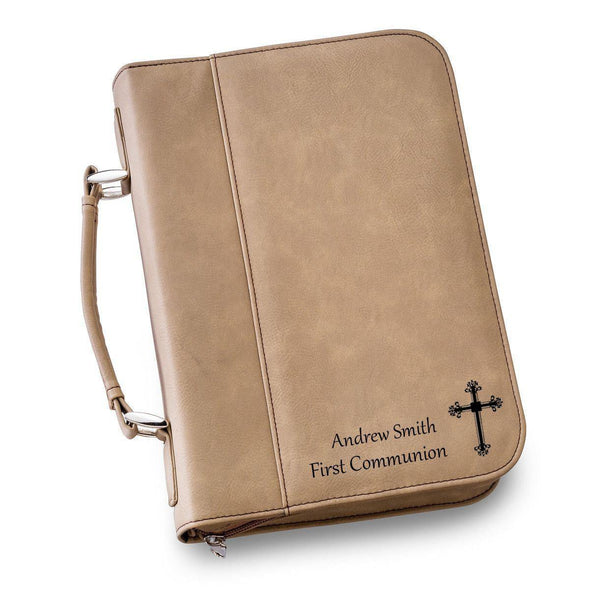 Personalized Leather Bible Cover - 6 Colors - LightBrown - JDS