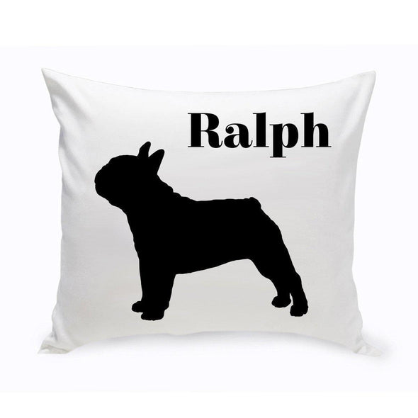 Personalized Dog Throw Pillow - FrenchBulldog - JDS