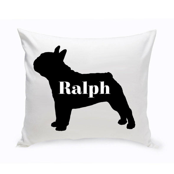Personalized Dog Throw Pillow - Dog Silhouette - FrenchBulldog - JDS