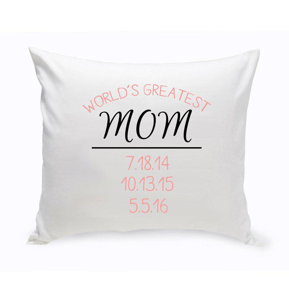 World's Greatest Mom Throw Pillow -  - JDS