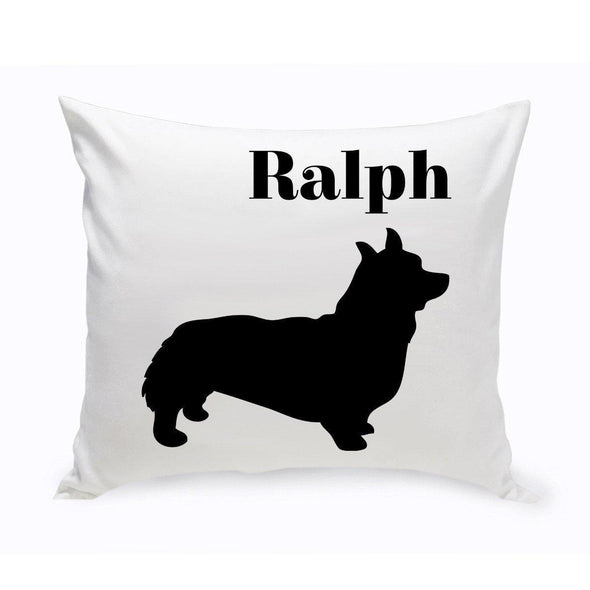 Personalized Dog Throw Pillow - Corgie - JDS