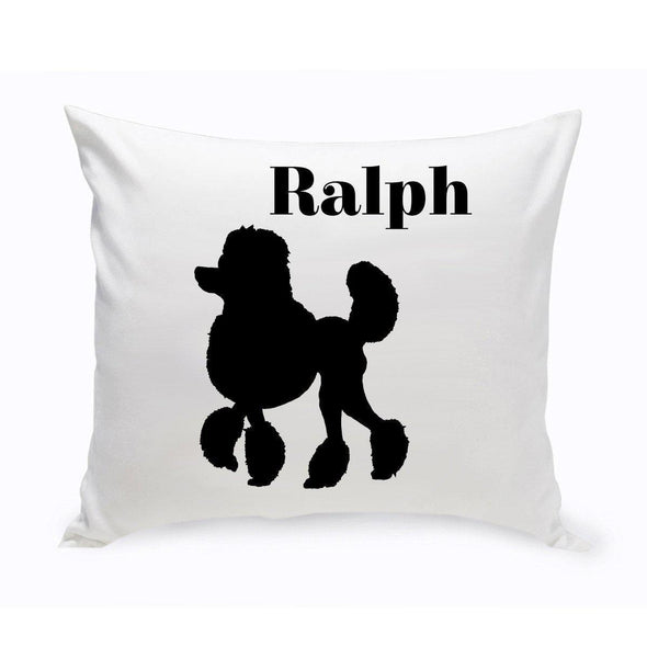 Personalized Dog Throw Pillow - MiniPoodle - JDS
