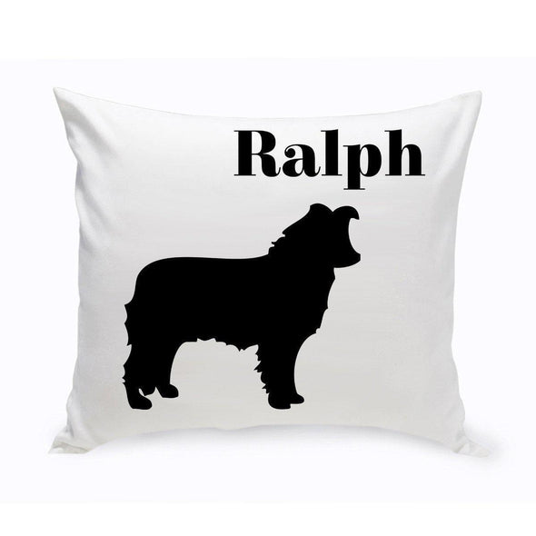 Personalized Dog Throw Pillow - BorderCollie - JDS