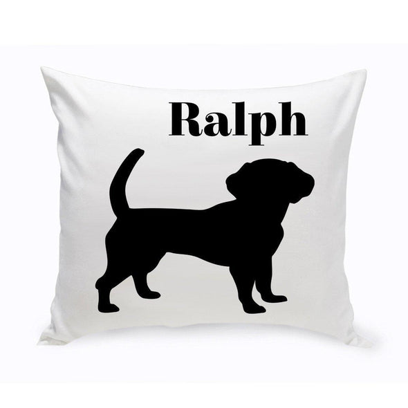 Personalized Dog Throw Pillow - Beagle - JDS