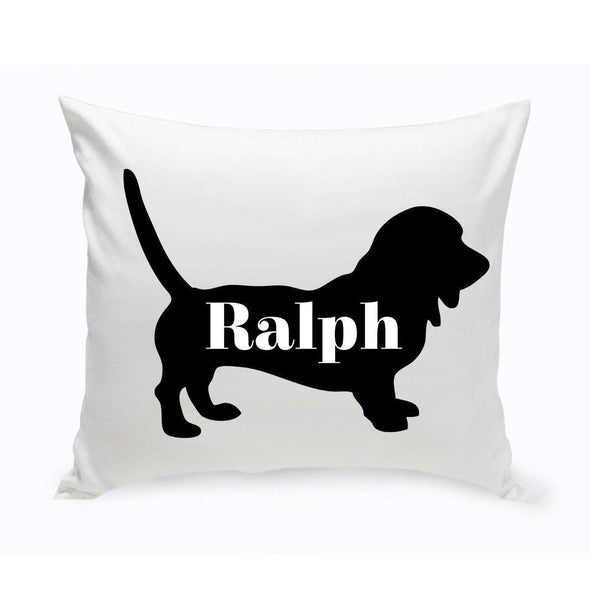 Personalized Dog Throw Pillow - Dog Silhouette - Dachsund - JDS