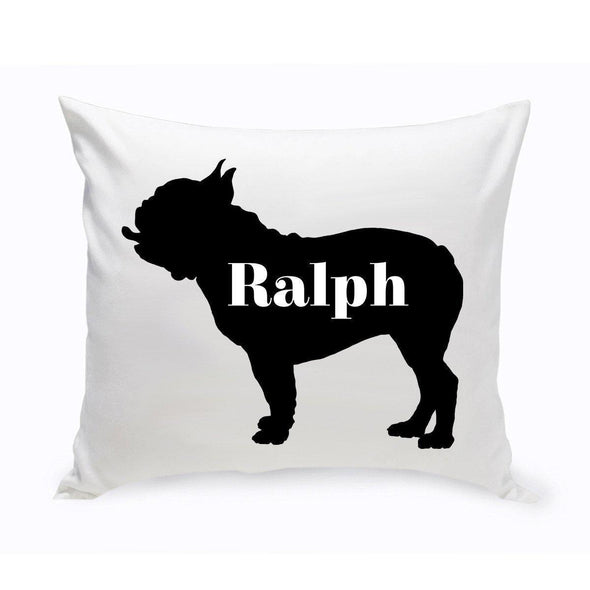 Personalized Dog Throw Pillow - Dog Silhouette - AmericanBulldog - JDS