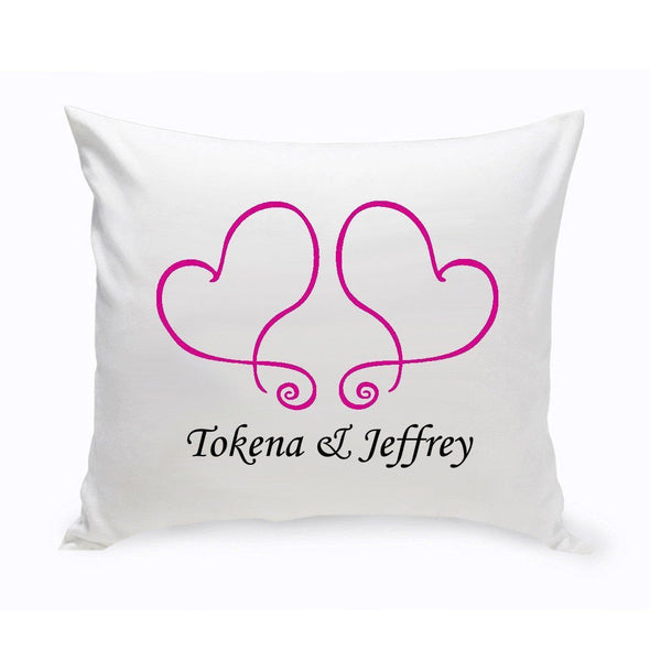 Personalized Couples Unity Throw Pillow - TwoHearts - JDS