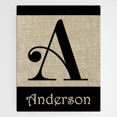 Personalized Family Initial Canvas Sign - Swirly - JDS