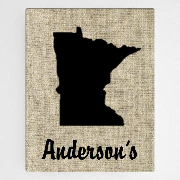 Personalized Country Home State Canvas Sign -  - JDS