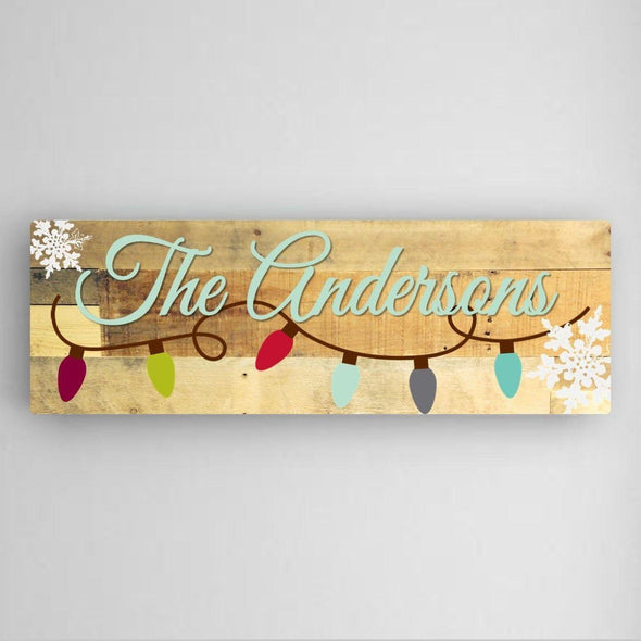 Personalized Snowflakes Canvas Sign -  - JDS
