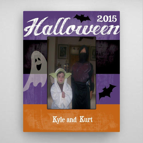 Personalized Halloween Picture Frame - Purple - JDS