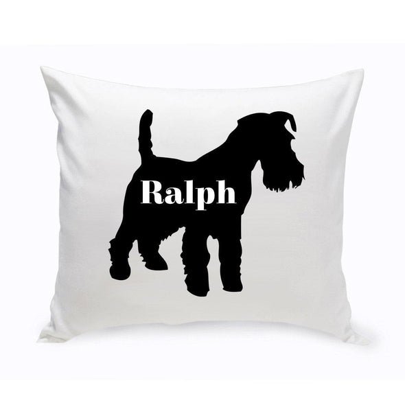 Personalized Dog Throw Pillow - Dog Silhouette - ScottishTerrier - JDS