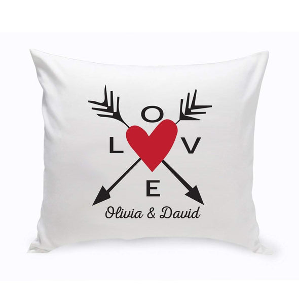 Personalized Love Arrow Throw Pillow - Red - JDS