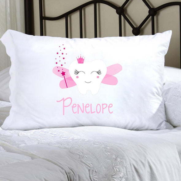 Personalized Kids Tooth Fairy Pillow Case - Pink - JDS