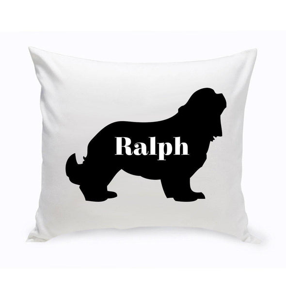 Personalized Dog Throw Pillow - Dog Silhouette - CockerSpaniel - JDS
