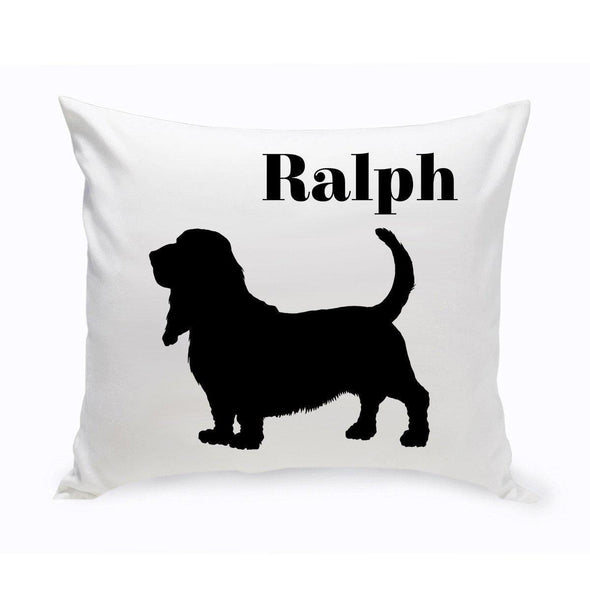 Personalized Dog Throw Pillow - BassetHound2 - JDS
