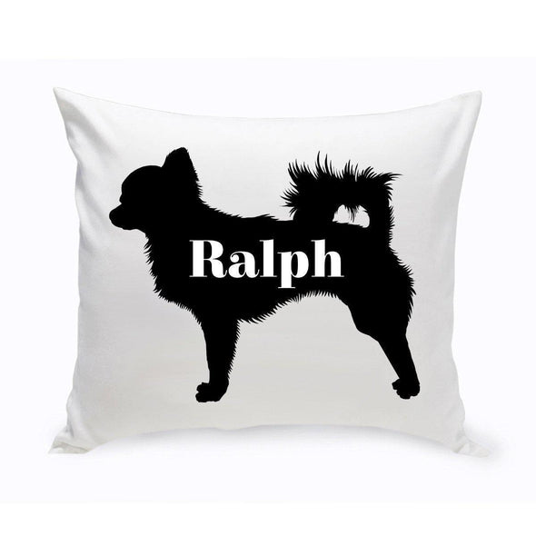 Personalized Dog Throw Pillow - Dog Silhouette - Chihuahua - JDS