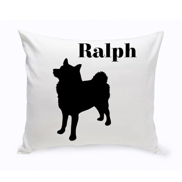 Personalized Dog Throw Pillow - Eskimo - JDS